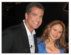 Shirley with iVillage Live host, Guy Yovan